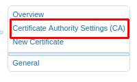 Установка модуля WebRTC во FreePBX. Выбор пункта Certificate Authority Settings(CA)