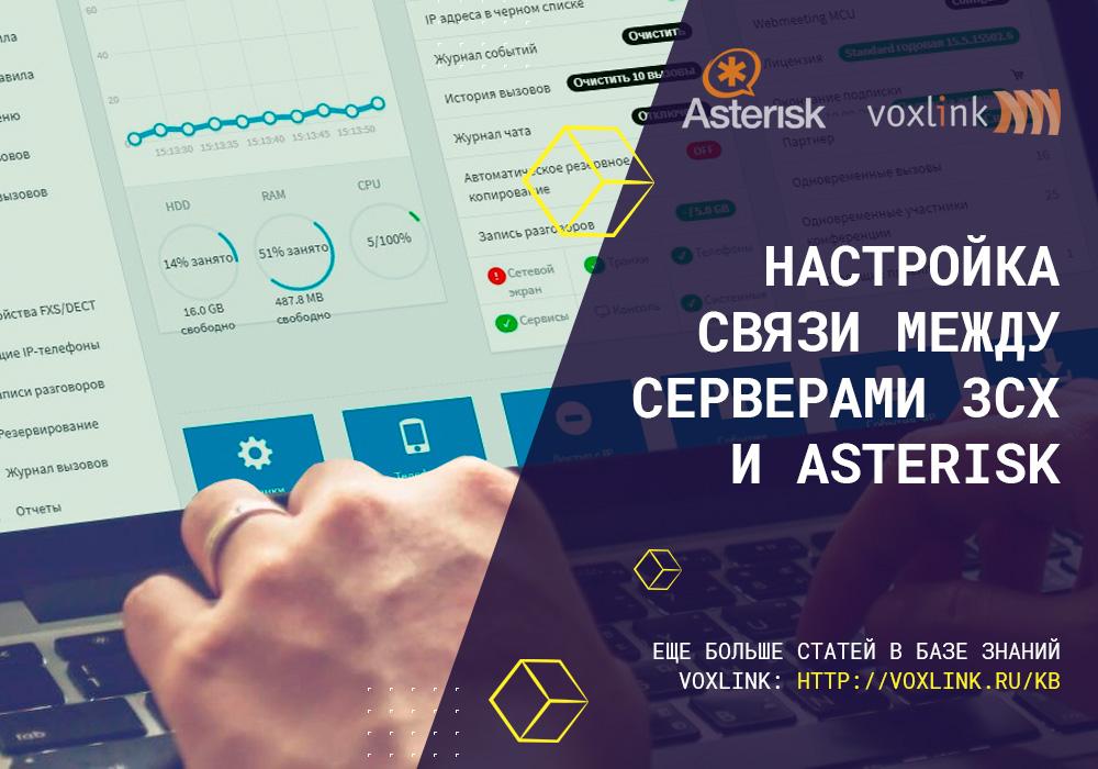 Связь между серверами 3CX и Asterisk