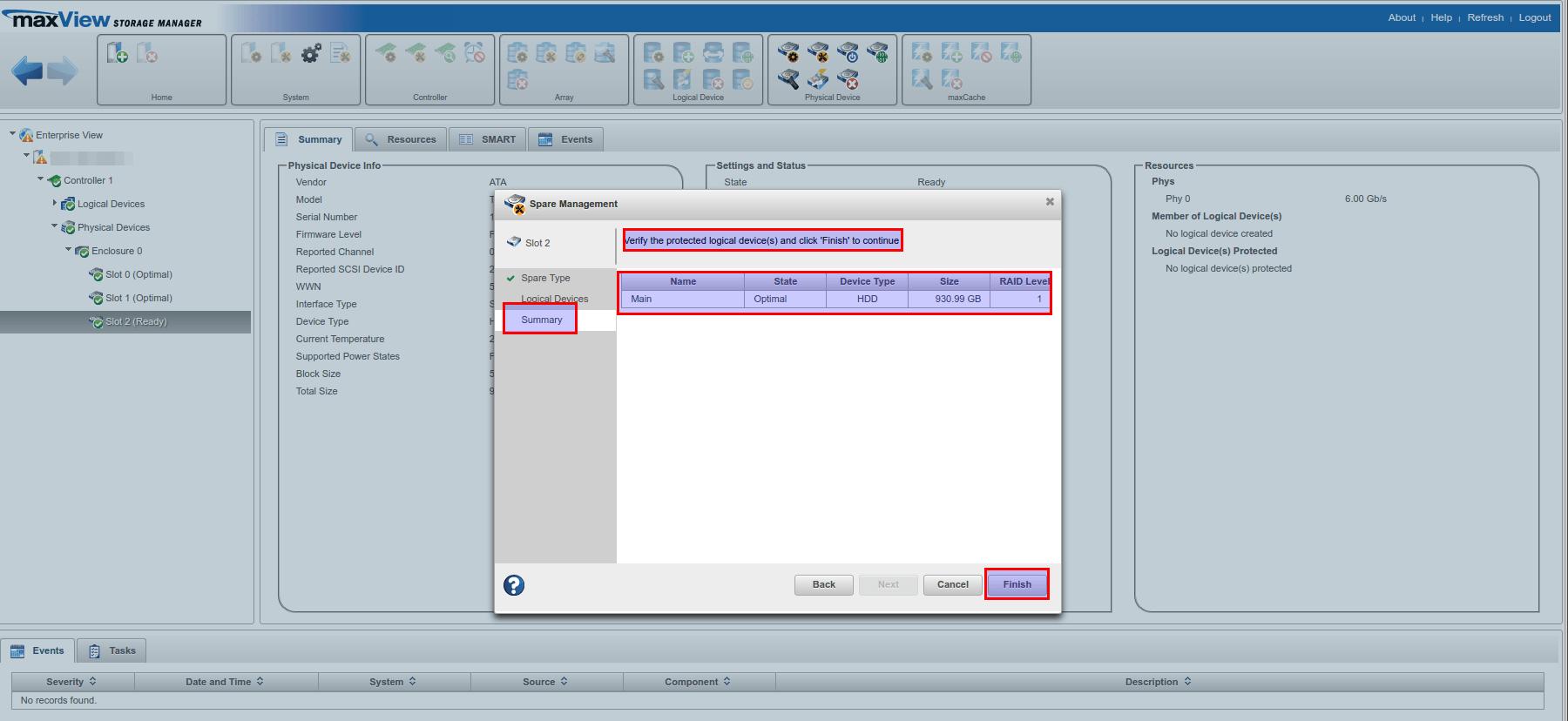 maxview storage manager пароль по умолчанию