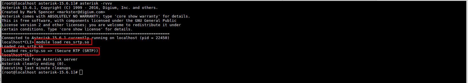 загрузка модуля res_srtp.so