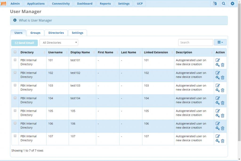 Первая закладка в модуле User Management.