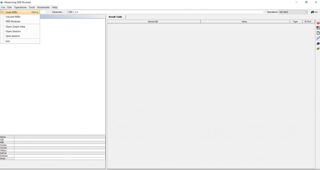 Загрузка Mib файла.