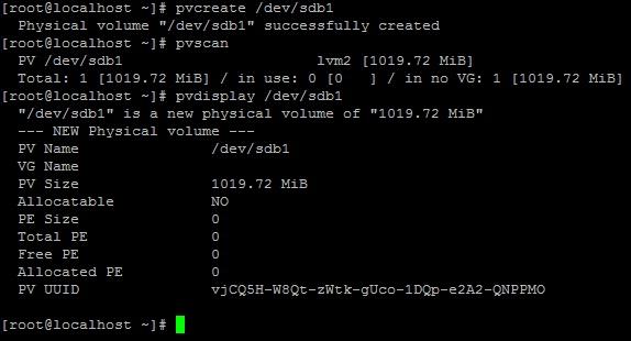 Добавление диска в LVM PV