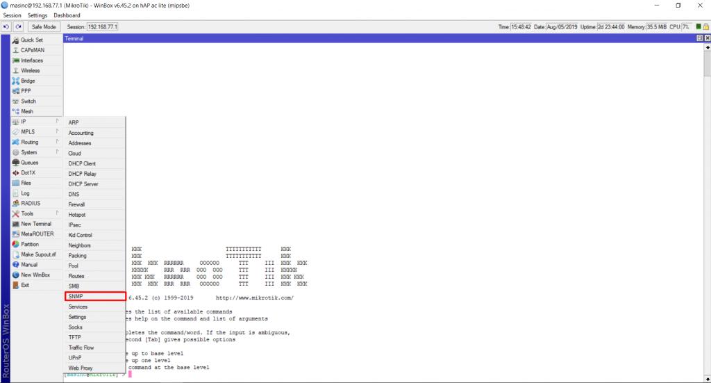 Контроль работы роутера Mikrotik системой мониторинга Zabbix