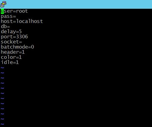 Файл конфигурации mytop