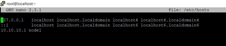 Указываем имя и ip адрес первого сервера