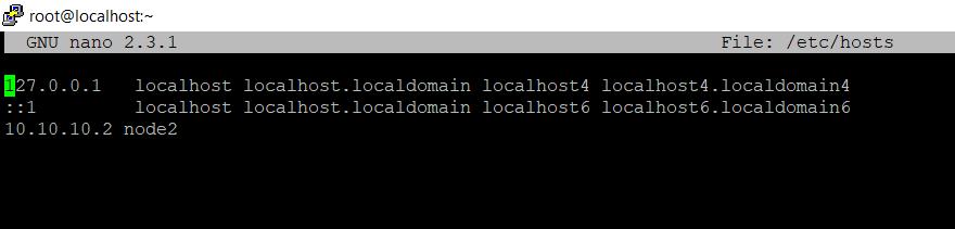 Указываем имя и ip адрес второго сервера