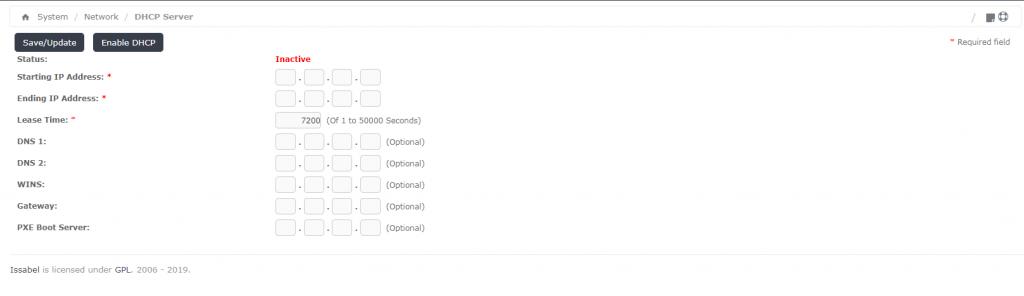 Конфигурирование DHCP-сервера