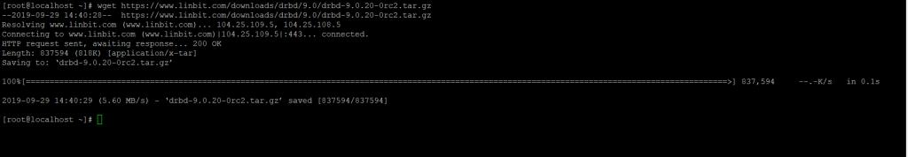 Скачивание модуля ядра DRBD