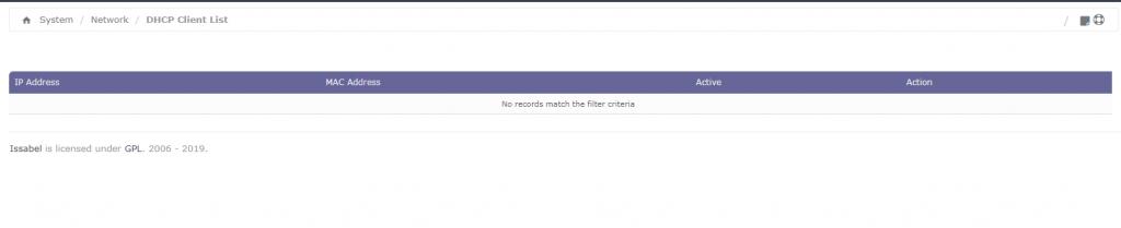 Список DHCP-клиентов
