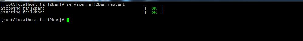Перезапуск fail2ban