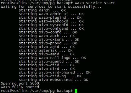 Восстановление работы сервера