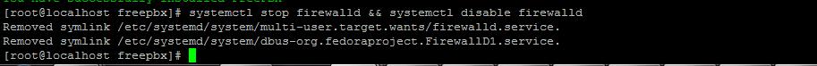 Остановка Firewalld