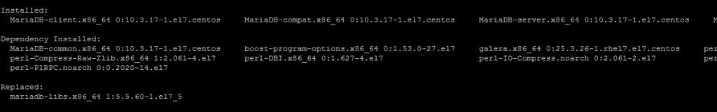 Установка MariaDB