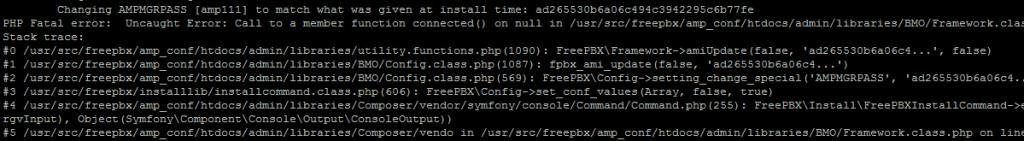 Ошибка PHP при инсталляции