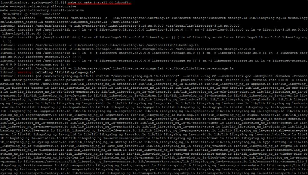 Компиляция и установка из исходников syslog-ng