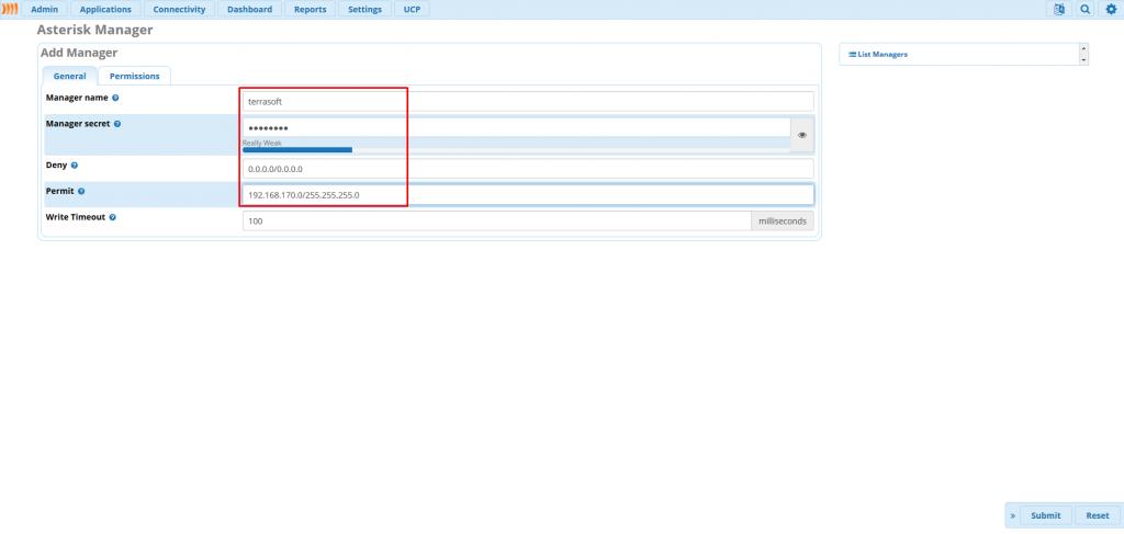Заполнение основных параметров AMI пользователя