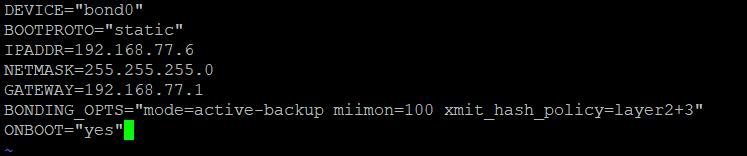 Конфигурационный файл сетевого интерфейса