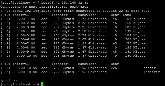 Запуск сервера iperf