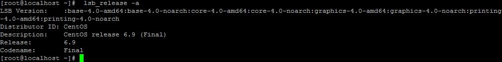 Вывод lsb_release, определение версии CentOS