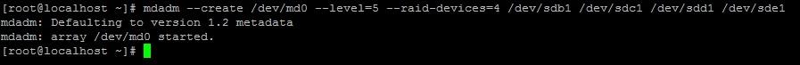 Создание RAID5 массива