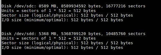 Просмотр дисков утилитой fdisk