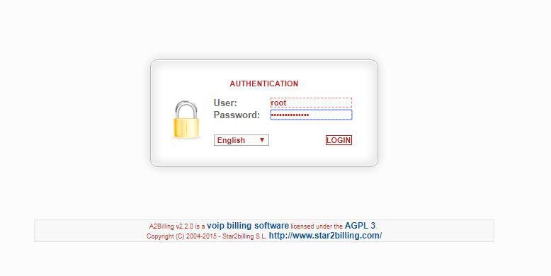 Web admin A2billing