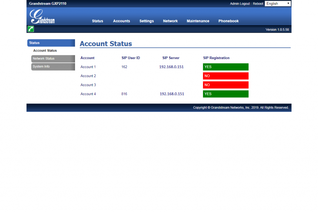 Account Status