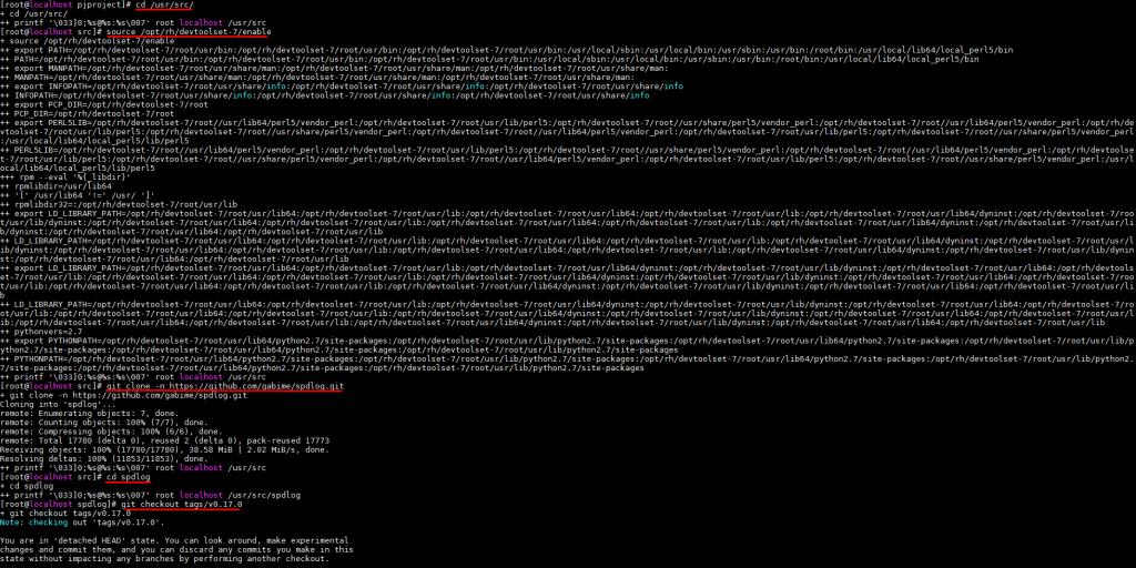 Сборка и установка библиотеки для организации логирования SDPlog