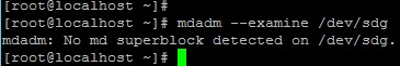 Проверка подключенного диска на отсутствие метаданных raid