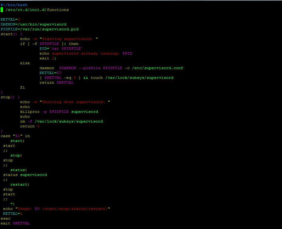 init файл для Supervisord