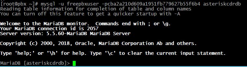 подключение к базе данных MariaDB.