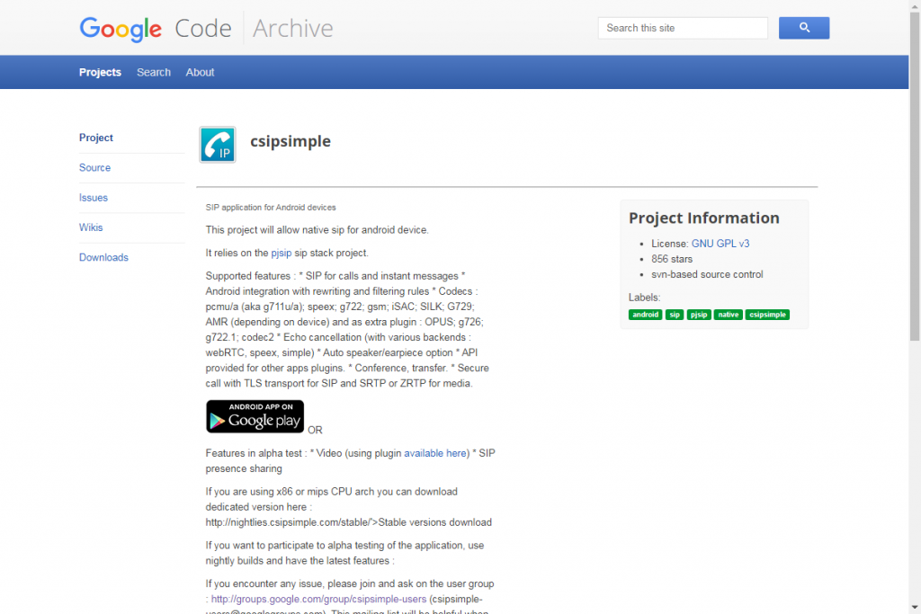 Домашняя страница разработчика