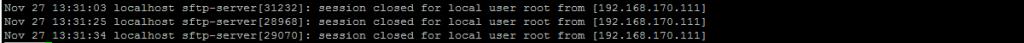 Отключение от сервера