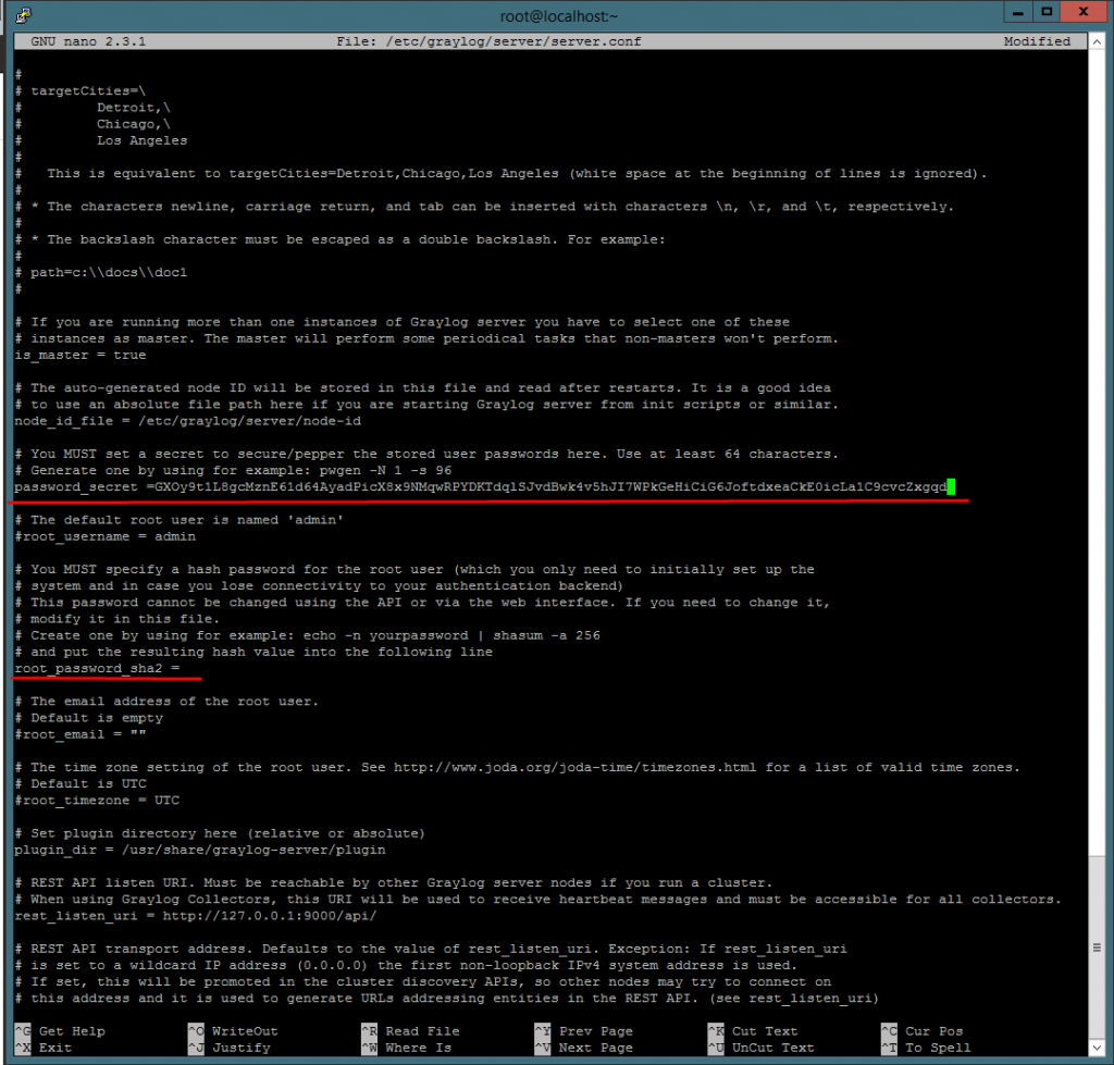 Конфигурация файла server.conf