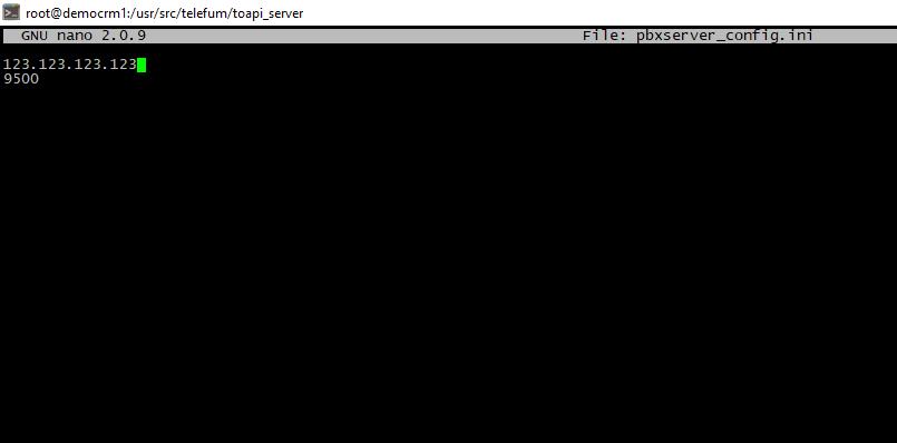Настройка файла pbxserver_config