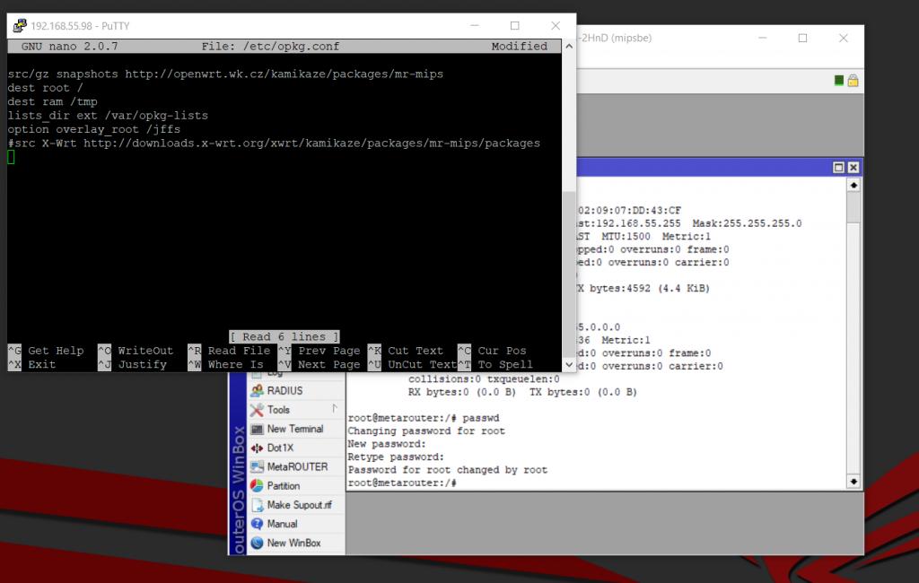 Содержимое файла /etc/opkg.cong