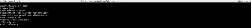 Создание VirtualHost WEB сервера провиженинга