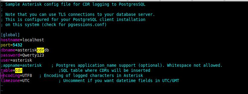 пример конфигурации файла cdr_pgsql.conf