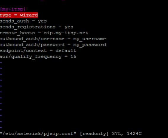 ITCP-сценарий в pjsip_wizard.conf
