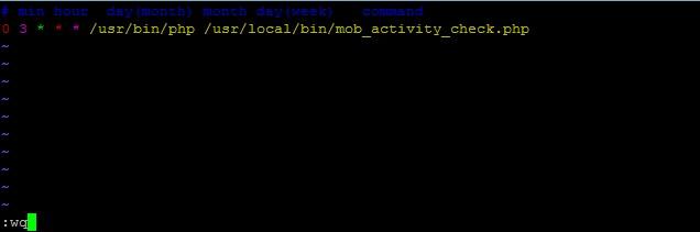 Редактирование crontab – добавление задания