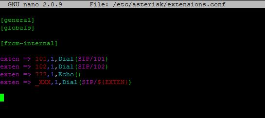 /etc/asterisk/extensions.conf на АТС без веб-интерфейса