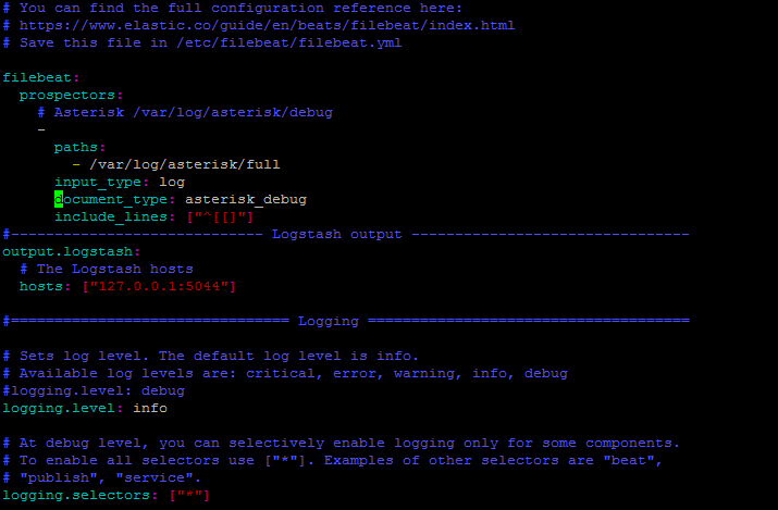 Конфигурация Filebeat